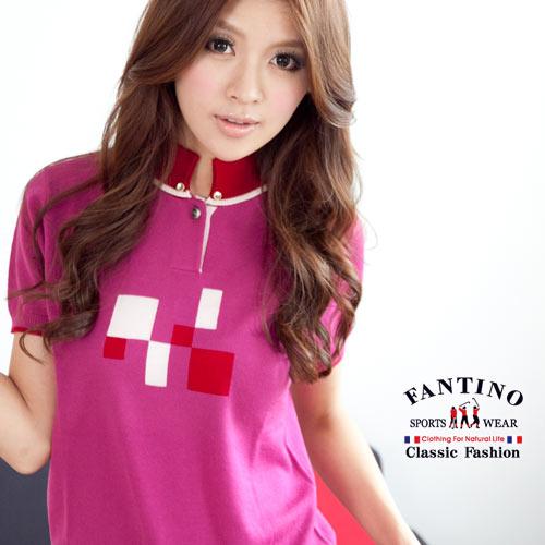 【FANTINO】可水洗羊毛,冬暖夏涼針織羊毛衫(桃紅)967307