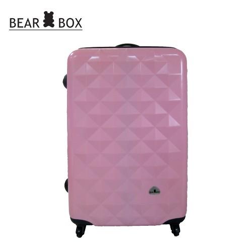 BEAR BOX 晶鑽系列★PC亮面輕硬殼28吋行李箱-晶鑽粉