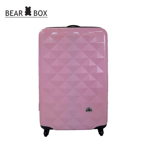 BEAR BEAR BOX 晶鑽亮面PC系列~輕硬殼行李箱20吋-晶鑽粉