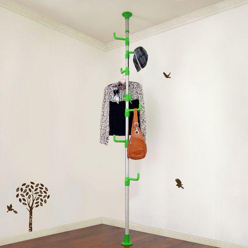LIFECODE 春樹頂天立地多用途衣帽架 (綠色)