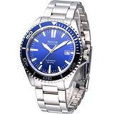 EPOS 運動潛水 機械腕錶-(3413.131.96.16.30)藍天/阿拉伯刻度