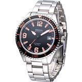 EPOS 運動潛水 機械腕錶-(3413.131.92.32.30)亮橘色/阿拉伯刻度