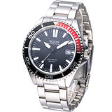 EPOS 運動潛水 機械腕錶-(3413.131.91.15.30)黑面/釘字刻度