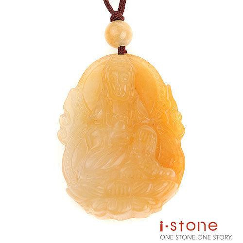 【石頭記】 護身佛系列-蓮花如意觀音黃玉項鍊