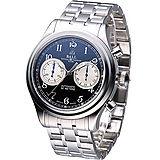 BALL Cannonball 45分鐘計時 機械腕錶-(CM1052D-S1J-BK)黑面鋼帶款