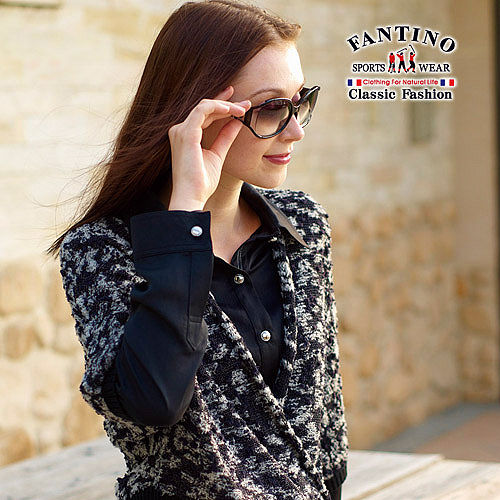 【FANTINO】台灣製*輕薄極柔軟原色高雅襯衫(黑) 184302