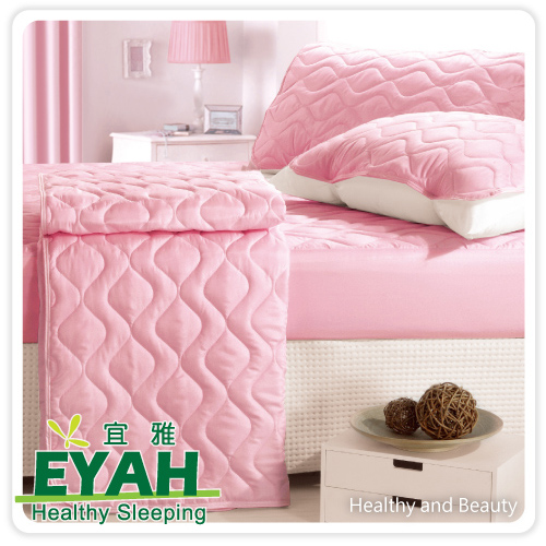 【EYAH宜雅】純色保潔墊△床包式雙人加大-(愛戀粉)