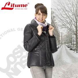 【意都美 Litume】女款 立體輕量防潑水透氣保暖羽絨外套_ F3153 黑
