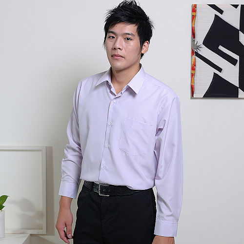 JIA HUEI 長袖男仕吸濕排汗防皺襯衫 3158 條紋粉[台灣製造]