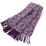 YSL 凡爾賽玫瑰大LOGO羊毛披肩(紫羅蘭)