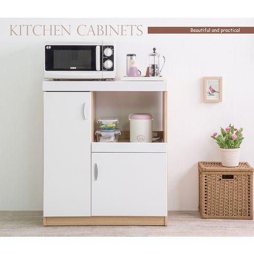 收納容量大 時尚鏡面廚房收納櫃