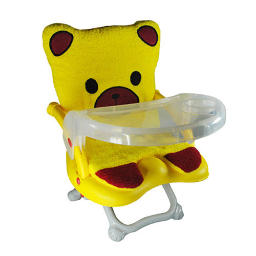 Arico -Q CHAIR多功能兒童餐椅/黃色小熊坐墊
