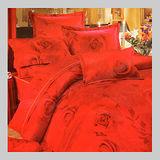 玫瑰花語.100%精梳棉.尊貴高雅.標準雙人床罩組全套.全程臺灣製造