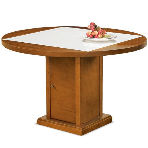 【AT HOME】 瑪吉柚木人造石四垂餐桌(33075-0)