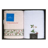 WEDGWOOD 繽紛田園野莓毛巾兩入禮盒-夢幻粉