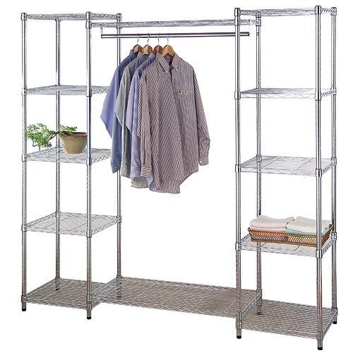 《百變金鋼》180*45*180大型多功能衣櫥架