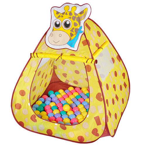 【寶貝樂】長頸鹿帳蓬折疊遊戲球屋送100球