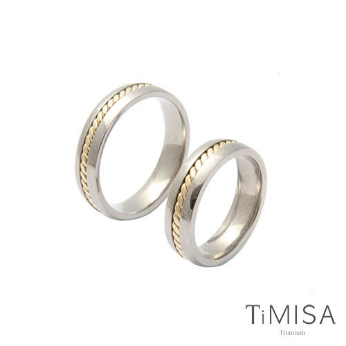 【TiMISA】鎖住愛情 純鈦對戒