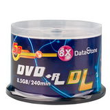 精選日本版 DataStone DVD+R 8X D.L 燒錄片 (100片)