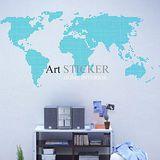 Art STICKER壁貼 。 World map dot (W019)