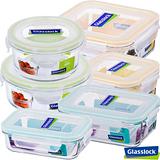 Glasslock強化玻璃微波保鮮盒-健康樂活6件組