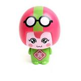 (任選)大頭公仔娃娃迷你安全小風扇-粉綠