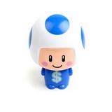 一(任選)大頭公仔娃娃迷你安全小風扇-藍磨菇