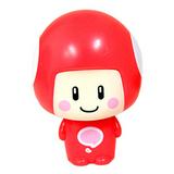 (任選)大頭公仔娃娃迷你安全小風扇-紅磨菇