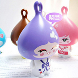 (任選)大頭公仔柚子娃娃迷你小風扇-紫色