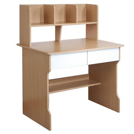 乖乖牌 雙抽層架式書桌