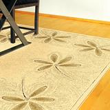 范登伯格-維加斯超柔絲質感地毯-花朵140x200cm