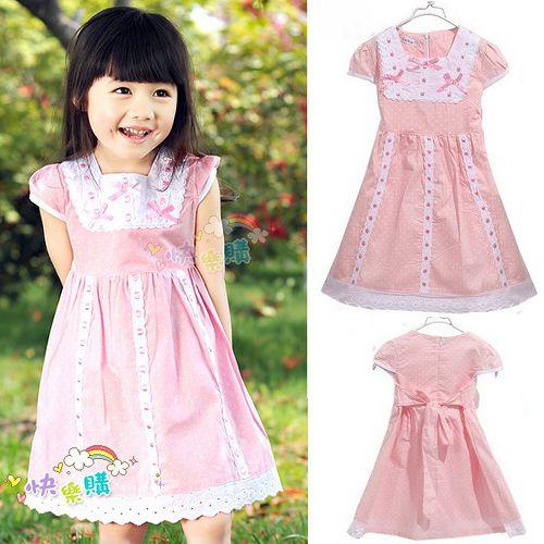 夏日《蝴蝶結點點-粉色》甜美氣質小洋裝【現貨+預購】