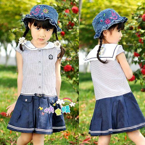 夏日《海軍學院風》甜美氣質小洋裝【現貨+預購】