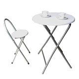 【環球】[耐重型]圓形折疊桌椅組(一桌一椅)二色可選