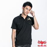 BOBSON 男款骷髏頭鋁片POLO短袖上衣(黑22014-88)衣