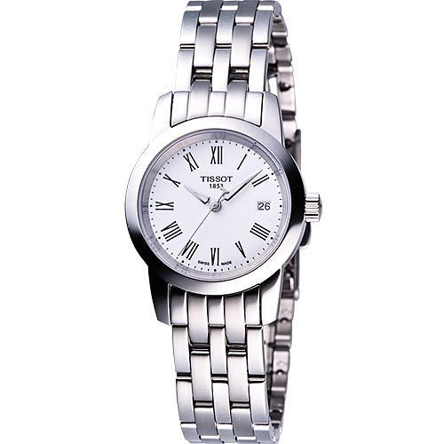 TISSOT CLASSIC DREAM 經典鋼帶女錶(T0332101101300)-白
