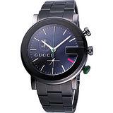 【GUCCI】G chrono 頂尖時尚計時碼錶(YA101331)-IP黑