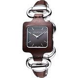 GUCCI 1921 經典時尚名媛手鍊錶(YA130403)-咖啡