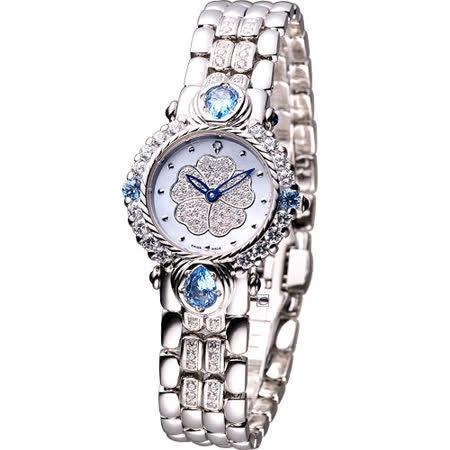 Ogival 愛其華 山茶花 黃玉系列 珠寶錶(305-11DLR)藍