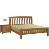 【優利亞-南洋風情】雙人5尺實木床架