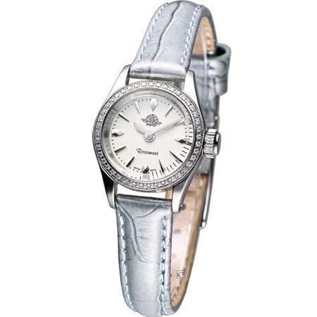 Rosemont 茶香玫瑰系列 III 復古時尚錶(RS022-03GR)灰藍色皮