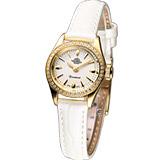 Rosemont 茶香玫瑰系列 III 復古時尚錶(RS022-01WH)米白色皮
