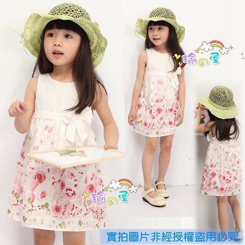 夏日《玫瑰蝴蝶結》甜美氣質小洋裝【現貨+預購】