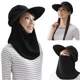 日系3用抗UV防曬寬帽緣護頸帽