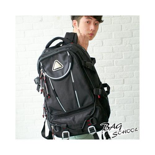DF【BAG SCHOOL】潮流主義功能型雙肩後背包