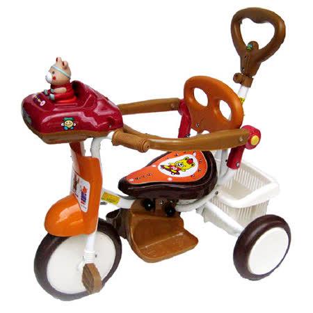 【MIT台灣童車】快樂熊音樂三輪車 ( 紅 / 橘 )