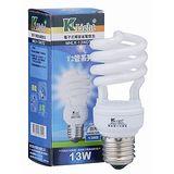 ★買一送一★光然K-LIGHT電子式螺旋省電燈泡-白光(13W)