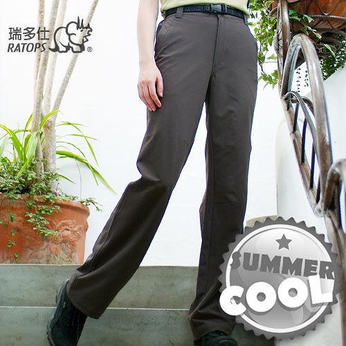 【瑞多仕-RATOPS】女款 彈性快乾休閒長褲/暗棕褐色 DA3176 B