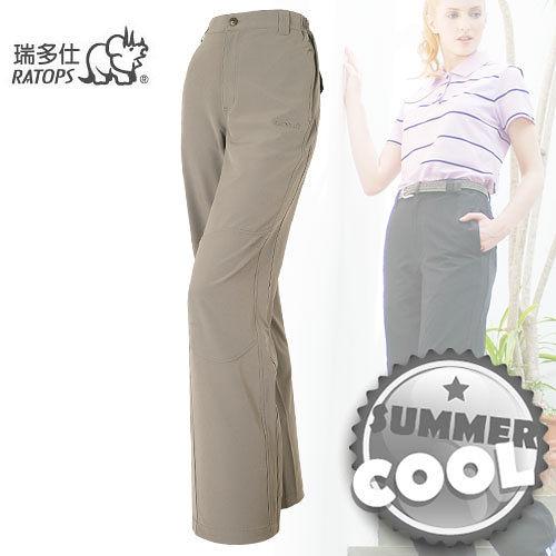 【瑞多仕-RATOPS】女款 彈性快乾休閒長褲/橄欖綠 DA3179 B