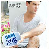 【瑞多仕-RATOPS】款 Coolmax 圓領快乾排汗內衣/ 銀灰 DE7001